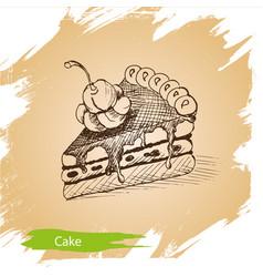 Background sketch cake vector