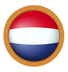 Badge design for netherlands flag vector