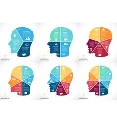 brain infographics set Template for human vector image