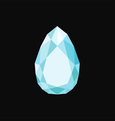 brilliant precious stone gemstone vector image