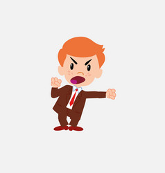 businessman screams very angry vector image