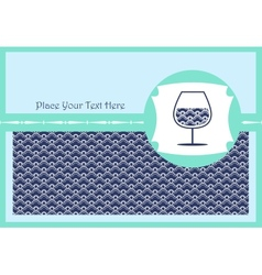 Card with a glass of wine vector image vector image