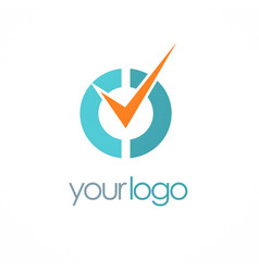 Check mark choice logo vector