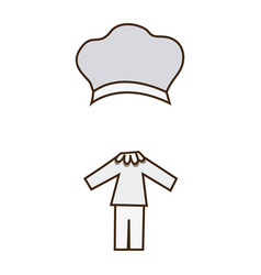 Colorful caricature chef costume profession vector