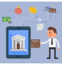 Concept of internet banking vector