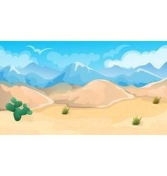 Desert And Hills Landscape vector image