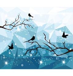 diamond snow bird vector image