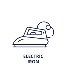 electric iron line icon concept electric iron vector image