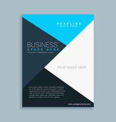 Elegant clean business brochure flyer template vector