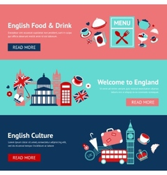 England banner set vector