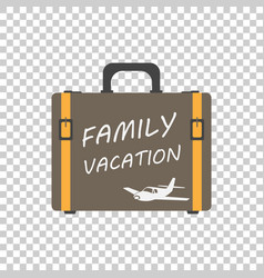 Family vacation concept flat suitcase for vector
