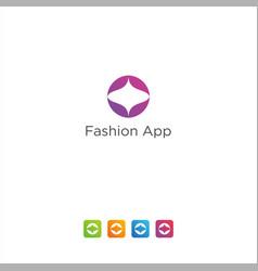 Fashion app logo design technology modern vector