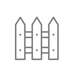 fence line icon vector image