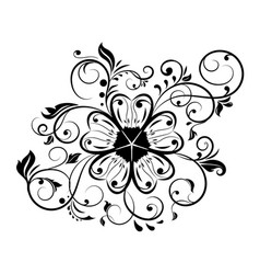 floral decorative ornament flower branch vector image
