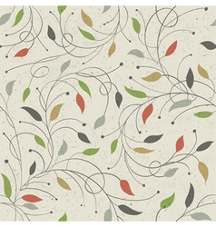 floral seamless pattern eps10 vector image