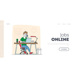freelancer or businessman working searching vector image