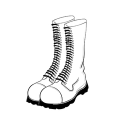 hand drawn military boots vector image