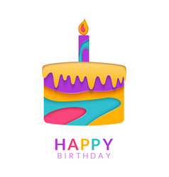 Happy birthday greeting card template with vector