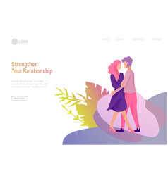 Happy lover relationship scenes with romantic vector