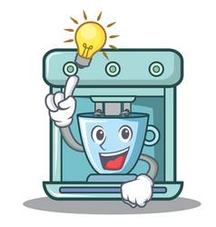 have an idea coffee maker character cartoon vector image