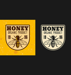 honey and beekeeping two colored emblem vector image