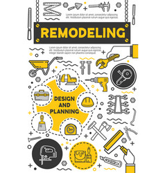 house renovation service diy tools vector image