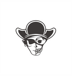 human skull pirate vector image