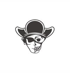 Human skull pirate vector