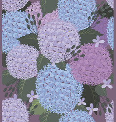 hydrangea and green gray leaves vector image
