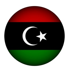 Libya flag button vector image