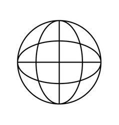 line global symbol to data center connection vector image