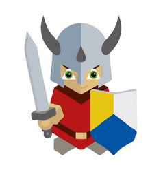 little knight mascot vector image