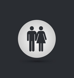 male and female hands togather icon vector image