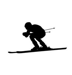 man athlete alpine skier vector image