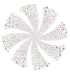 Manager fireworks swirl flower vector