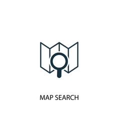 Map search icon simple element vector