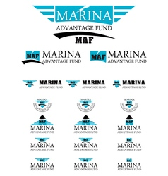 Marina advantage fund energy logo vector