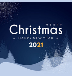 Merry christmas and happy new 2021 year design vector