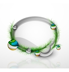 Modern abstract speech bubble with Christmas vector image