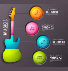 music design infographic concept vector image