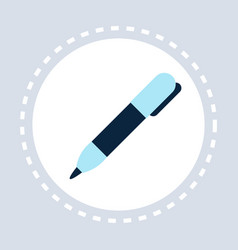 office classic pen creative equipment concept flat vector image