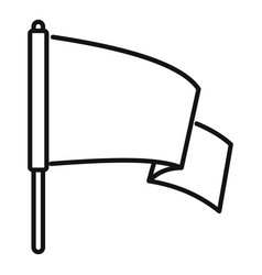 Peace flag icon outline style vector