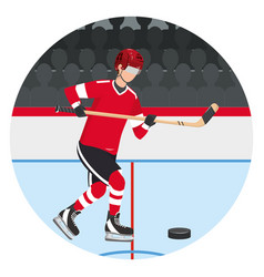 Player hockey gear and equipment vector
