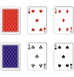 Playing card set 08 vector