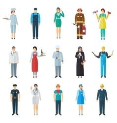Profession avatar icons set vector
