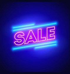 retro sale offer neon sign vector image