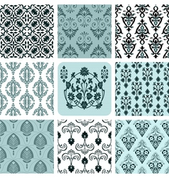 retro set backgrounds vector image