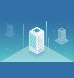 server room isometric vector image