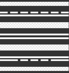 set of template horizontal straight asphalt roads vector image