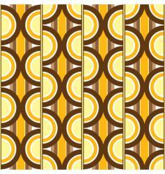 Seventies circular wall vector